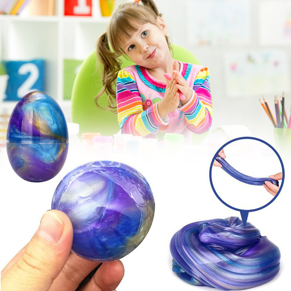 Clear Colorful DIY Crystal Mud Slime Squishy Release Pressure Kids Toys Gifts