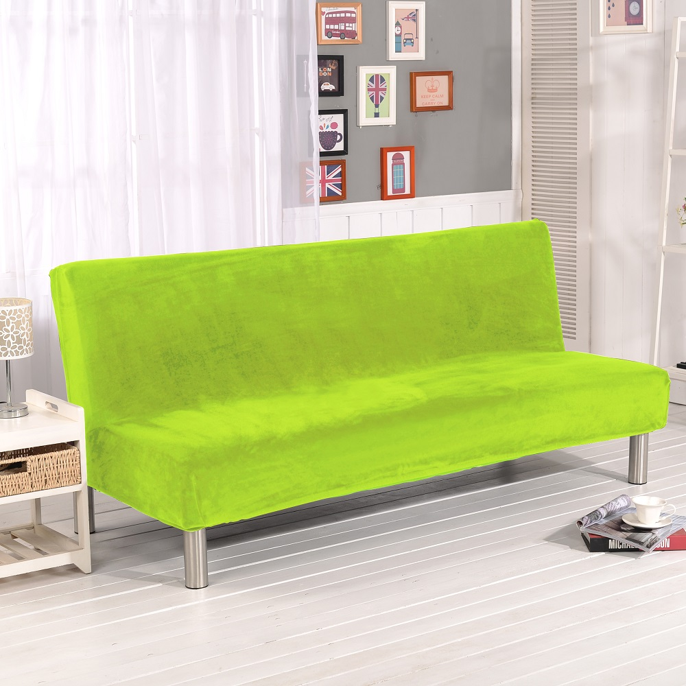 color home cover for universal solid removable armless in from plush blue navy slipcovers sofa item couch bed covers stretch