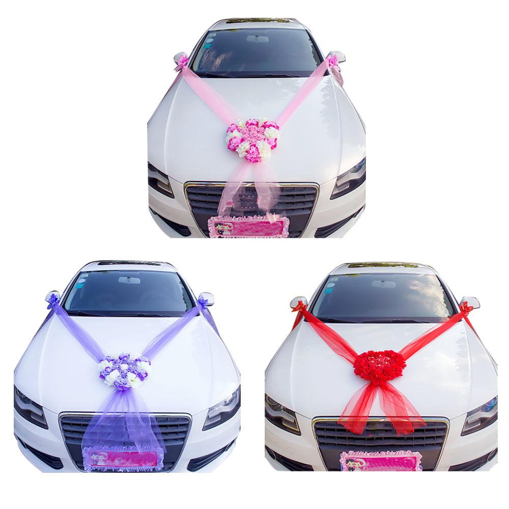 Details about Artificial Flowers Wedding Car Decor Fake Flowers Rose  Romantic Car Decoration