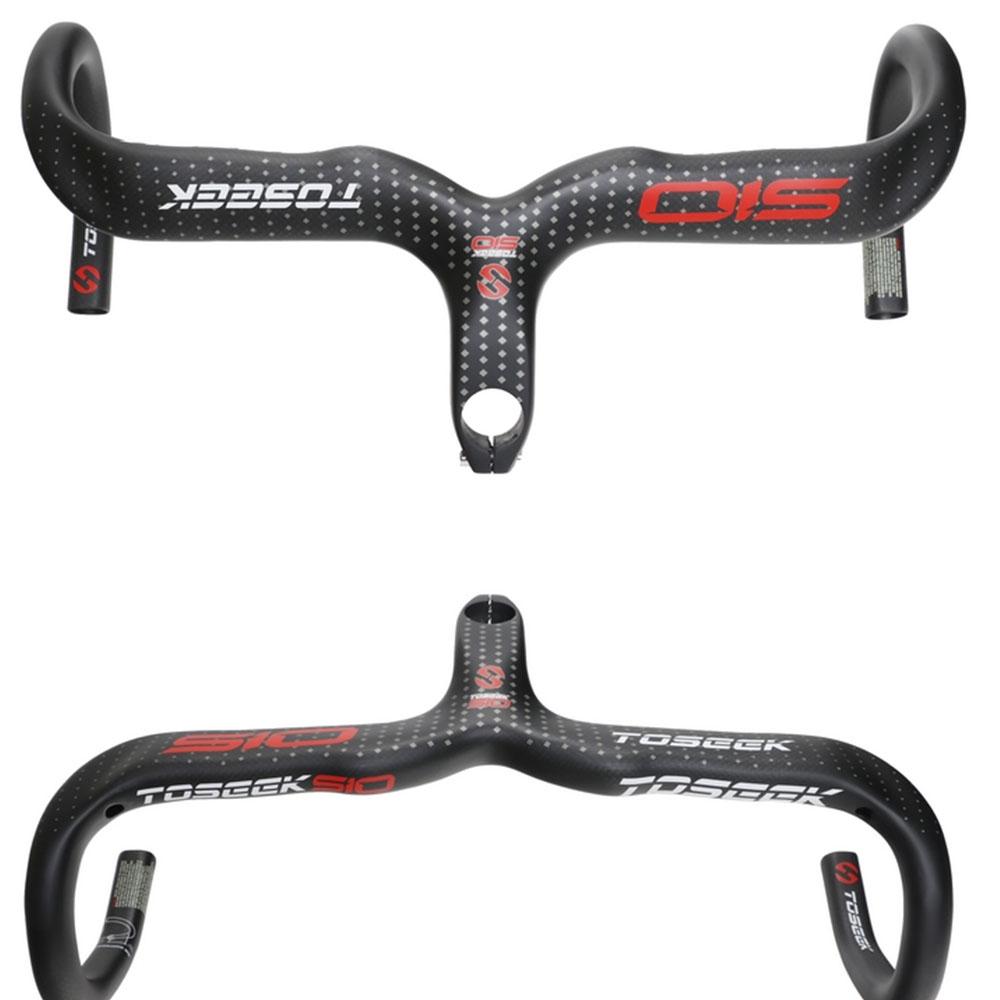 Carbon Road Bike Handlebar Stem Racing Ingrated Drop Bar 3K 28.6*400//420//440mm