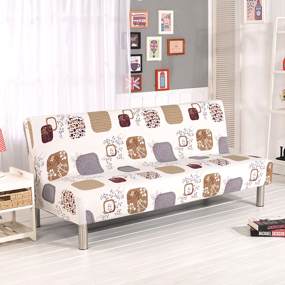 Folding Armless Sofa Futon Cover Furniture Seater Protector Couch  # Muebles Why Not New