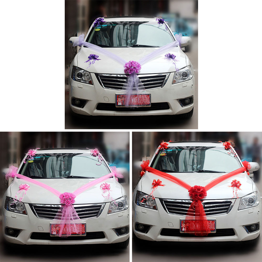 Artificial fake flowers wedding car decoration flowers ribbon diy artificial flowers wedding car decoration flower valentines day fake flowers sets wedding wreath party decoration flower junglespirit Choice Image