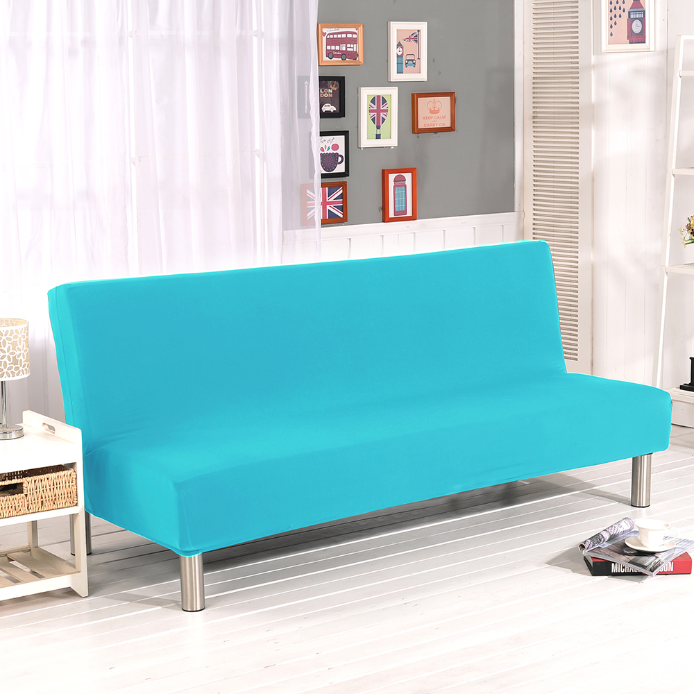 Folding Armless Sofa Futon Cover Furniture Seater Protector Couch