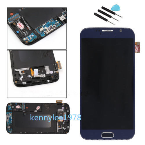 for samsung galaxy s6 g920f lcd display touch screen digitizer frame blue cover ebay. Black Bedroom Furniture Sets. Home Design Ideas