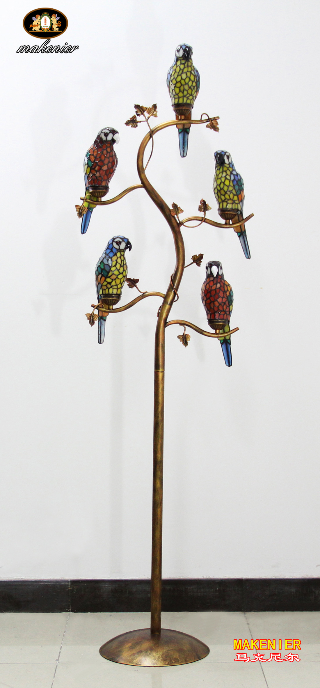 Makenier-Vintage-Tiffany-Style-Stained-Glass-5-light-Parrot-Floor-Lamp