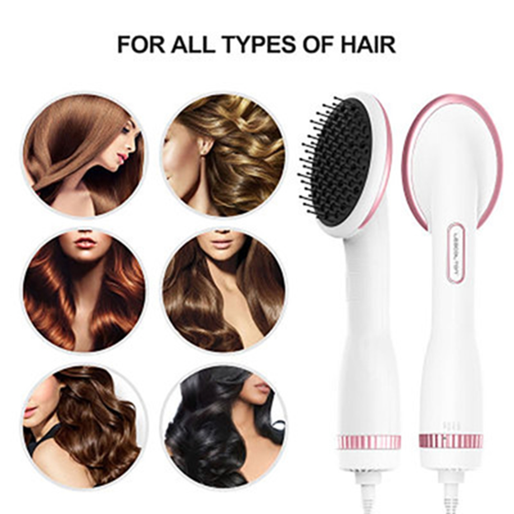 details about one step hair dryer & volumizer hot air brush negative ion  generator hair
