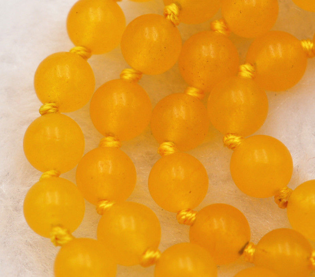 Pretty 4 Rows Natural 8mm Green Jade Round Gemstone Beads Necklace JN911