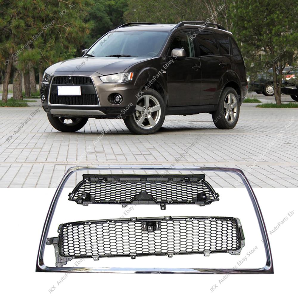 Front Bumper Chrome Molding Grill Mitsubishi Outlander 2010-2013