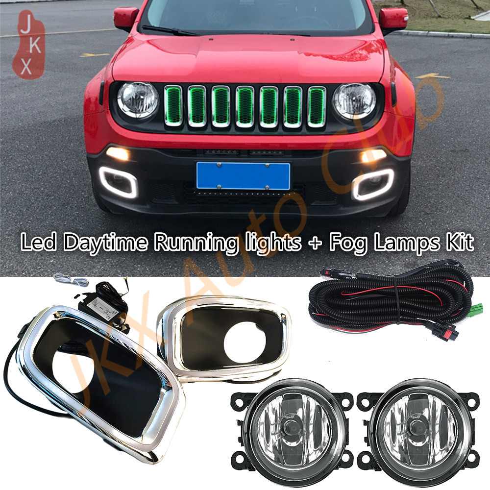 For Jeep Renegade 2015-2018 Daytime Running Light Day Lights Lamp Cover Trim