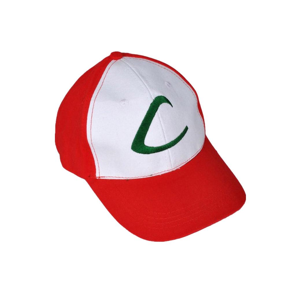 ff4300b46000b Anime Pokemon ASH KETCHUM Trainer Costume Cosplay Hat Baseball Cap ...