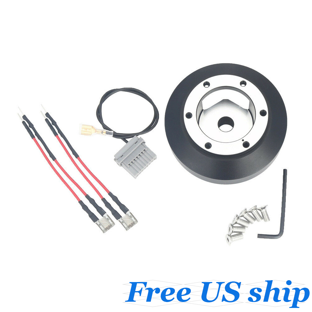 Kyostar Black Aluminum Steering Wheel Short Hub Adapter Quick Release Boss Kit for Nissan 350Z Z33 370Z G35 G37 SER SRK-141H