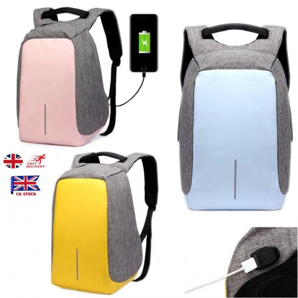 Details about UK Mens Womens Anti-theft Laptop Rucksack Backpack USB  Charging Port School Bag 5e52cacaa