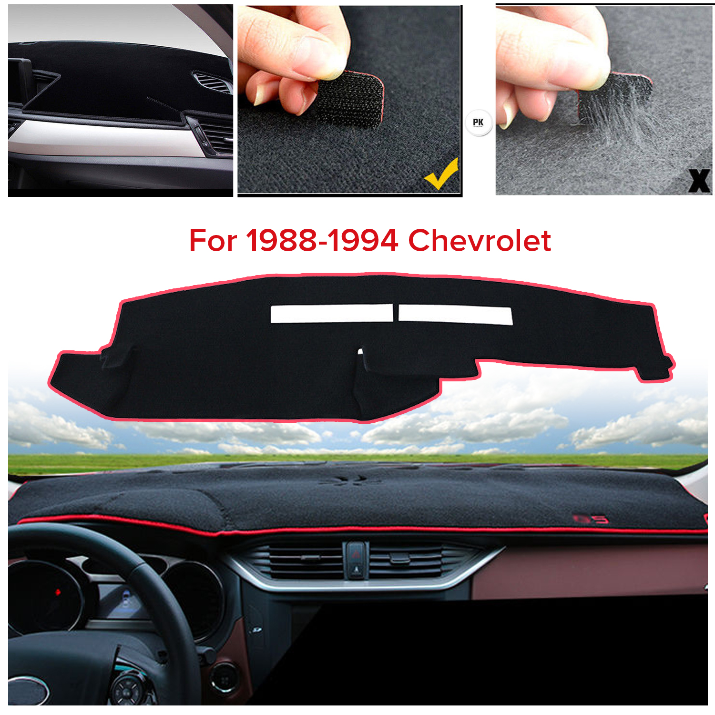 For 1988-1994 Chevrolet Silverado Truck Dashmat Dashboar No-Slip Cover Black US