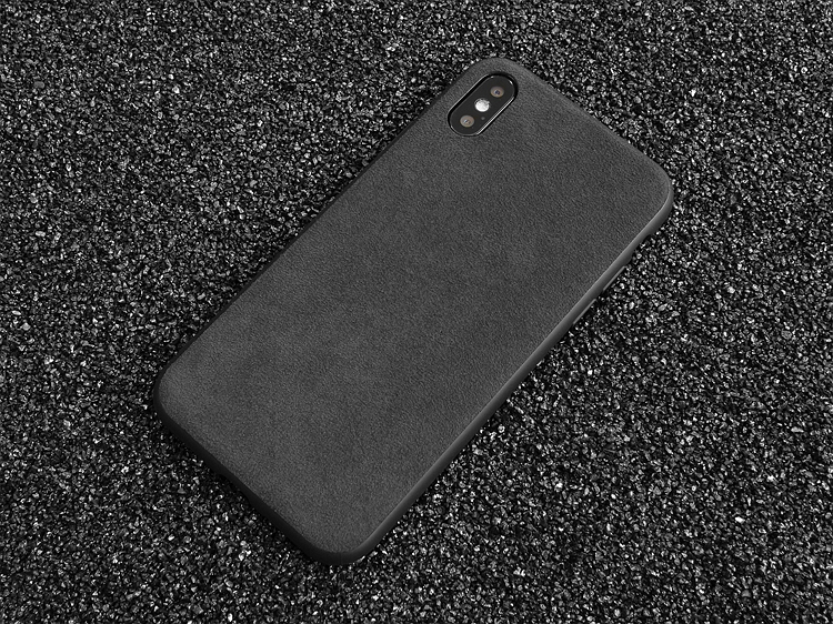 custodia iphone x alcantara