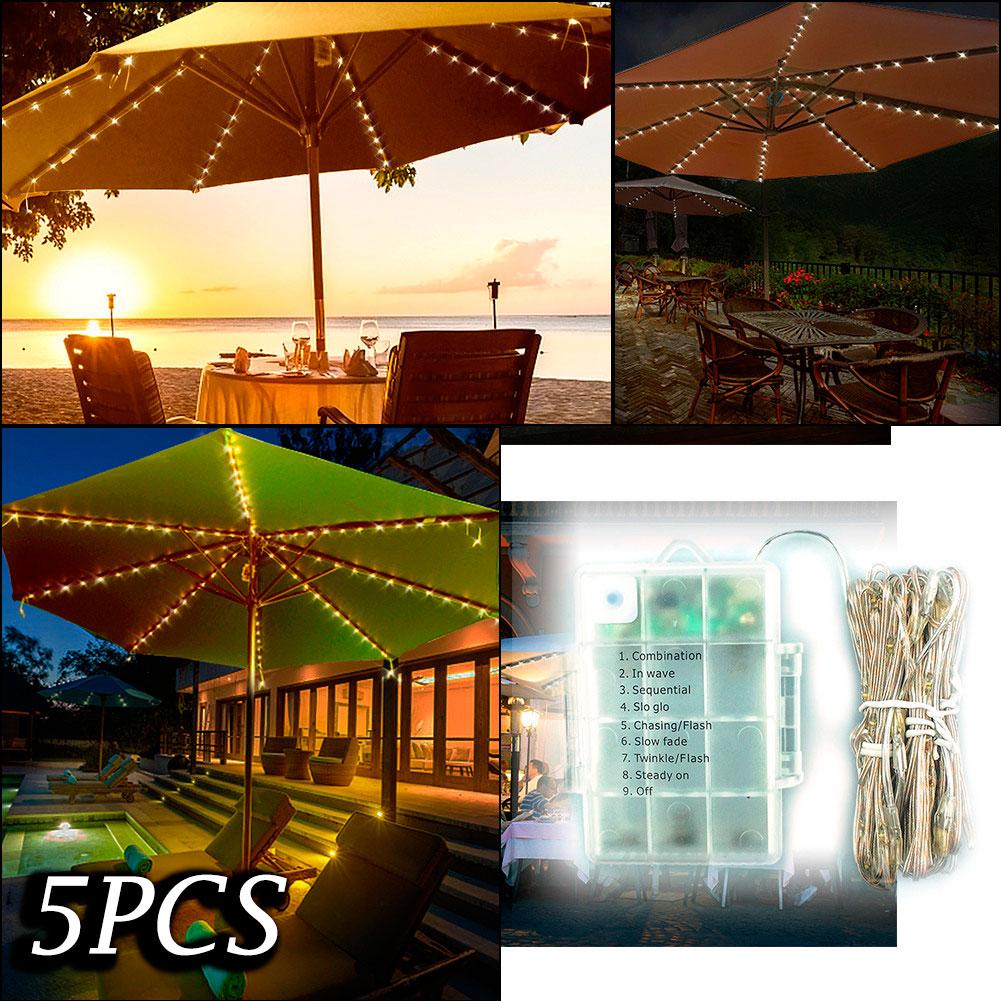 Details About 5x 104led Remote Control Battery Umbrella String Lights Decoration Color