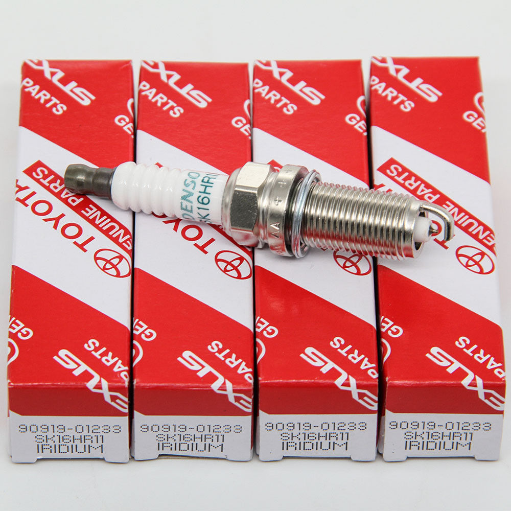 4 PCS TOYOTA 90919-01233 DENSO 3417 SK16HR11 IRIDIUM LONG LIFE OEM Spark Plugs