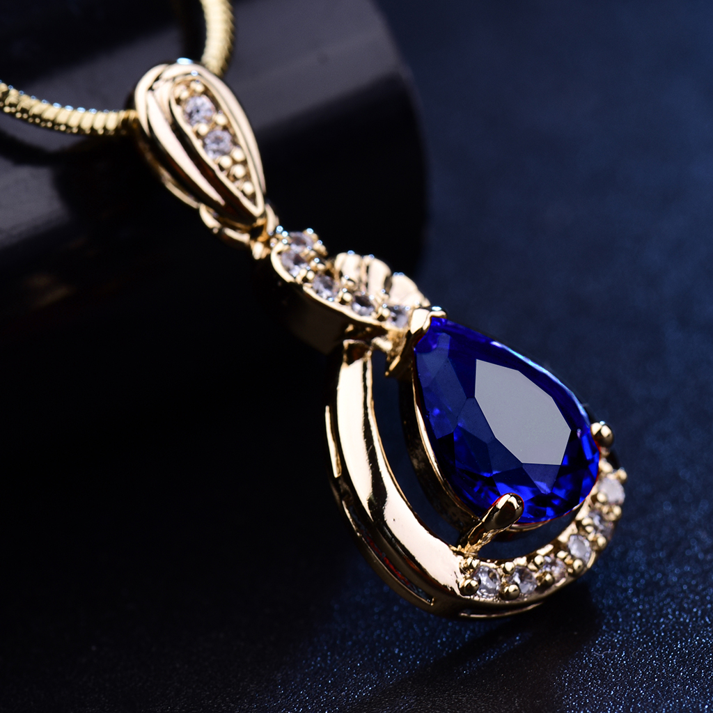 diamond jeweler pear topaz pendant jewelry ben necklace blue bridge shaped
