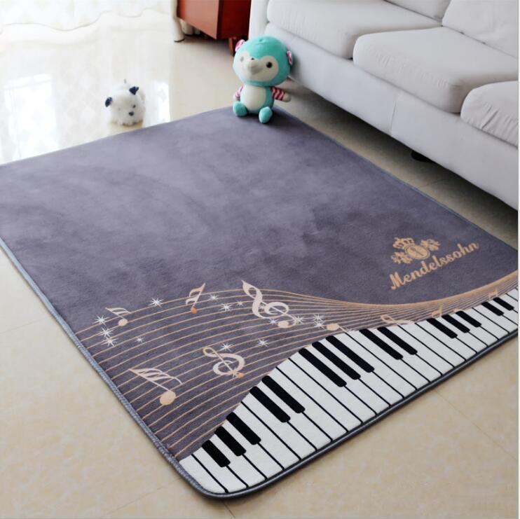 fashion piano keyboard music rug kids play rug bedroom living room carpet ebay. Black Bedroom Furniture Sets. Home Design Ideas