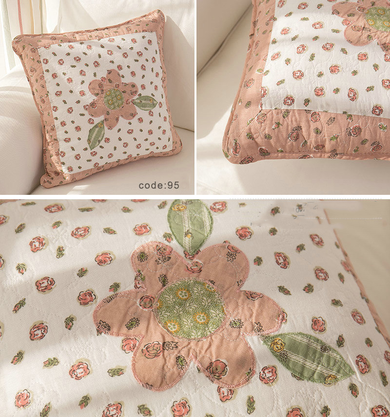 Details About 1 Pc French Country Cushion Cover Pillow Fl Shabby Chic Flower