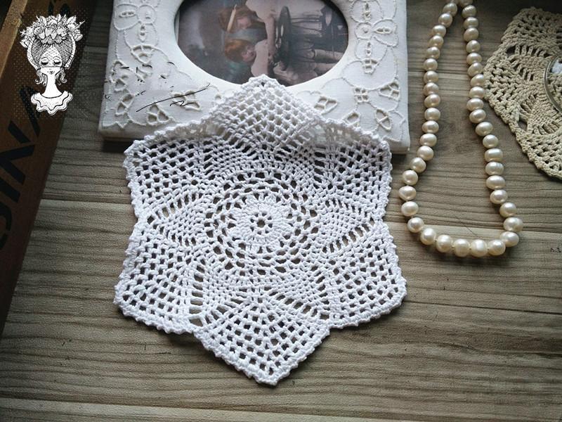 Vintage Hand Crochet Snowflake Doily Diameter 55 Wedding Sale Pure