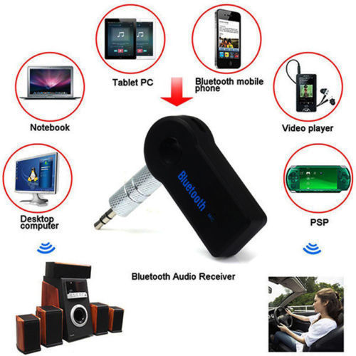 Stereo Audio Music Receiver Speaker Adapter Bluetooth 3.0 Wireless 3.5mm RD513