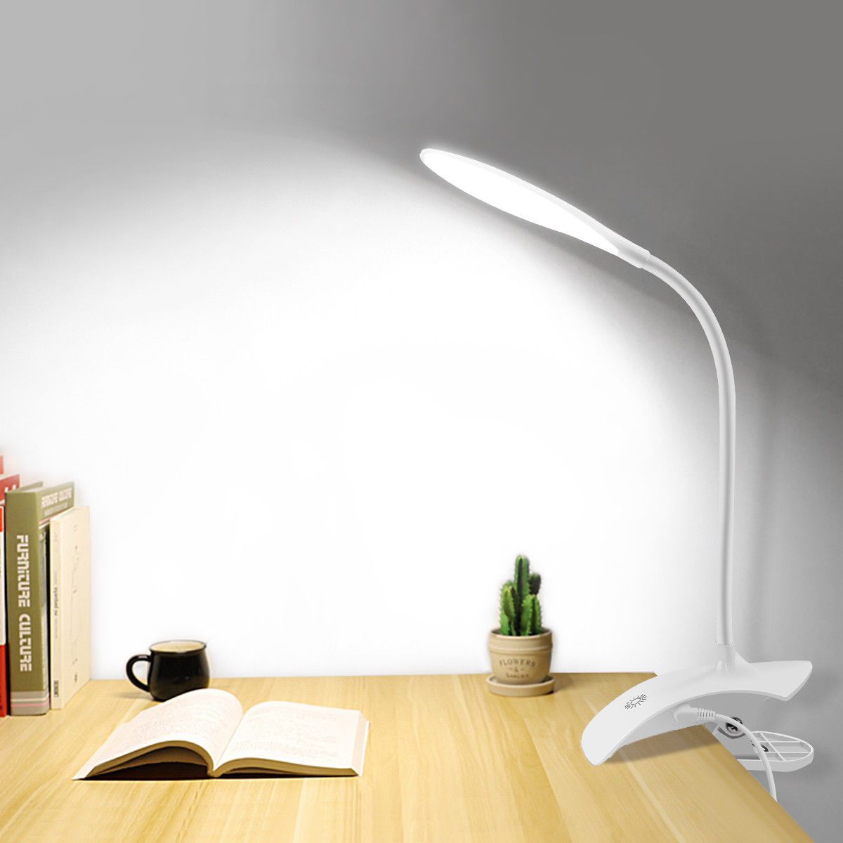 Details About Usb Clip On Table Desk Bed Piano Reading Light Lamp Cold White Led Flexible Rk71