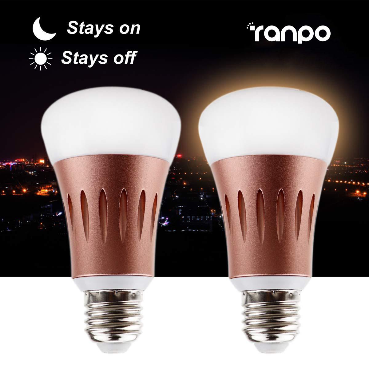 Details About Dusk Till Dawn Outdoor Light Led Sensor Lights E27 7w Rose Gold Smart Auto Bulb