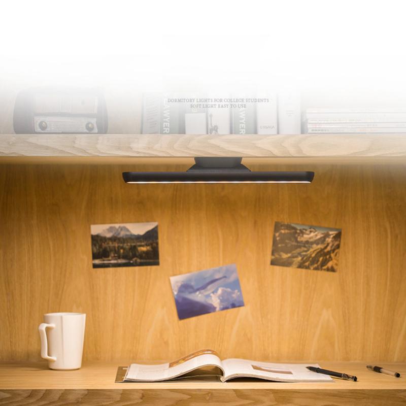 LED Dormitory Reading Lamp Closet Night Light Wall Stick-On Lamp USB Powered SS