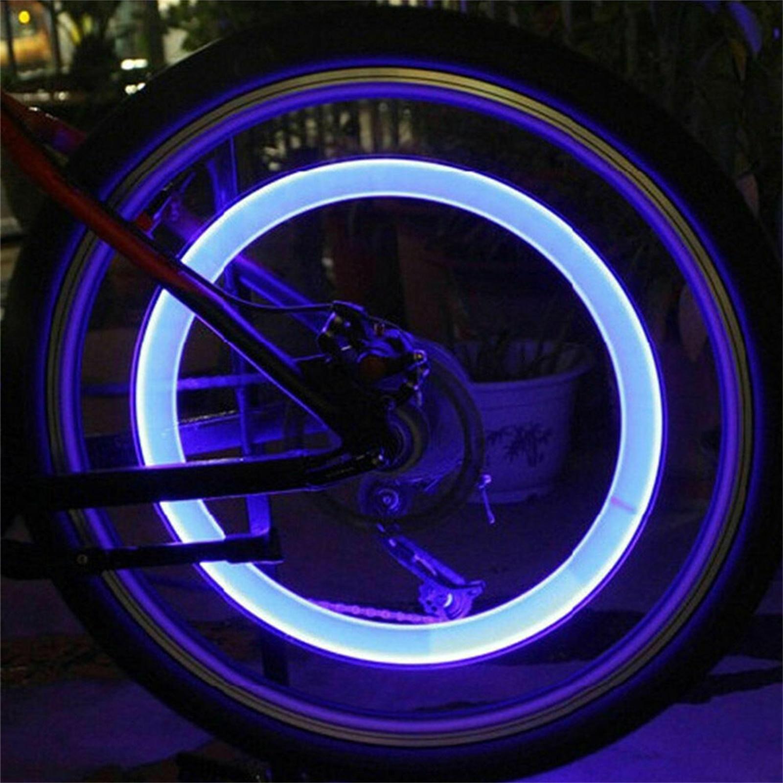10-40X Pink LED Tyre Wheel Valve Cap Lights Waterproof Car Bicycle Motorcycle HL