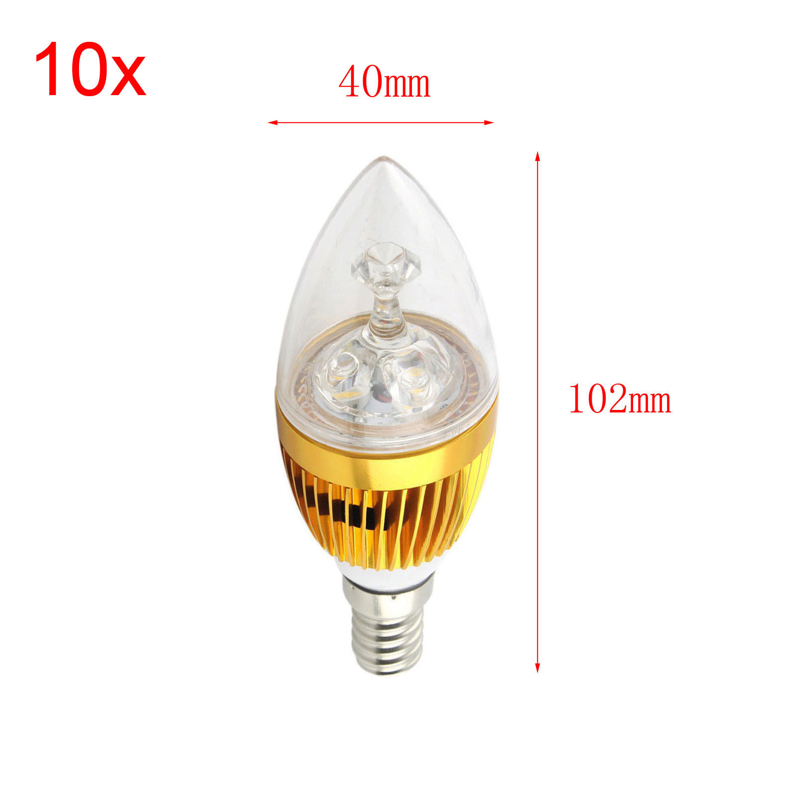 10x Dimmable E12 Candelabra LED Bulb 3W 6W 9W Chandelier Sharp Candle Light Lamp