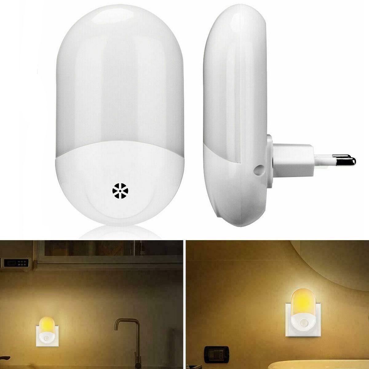 Wall LED Night Light Lamp Room Home Energy Saving Lamps Plug UK