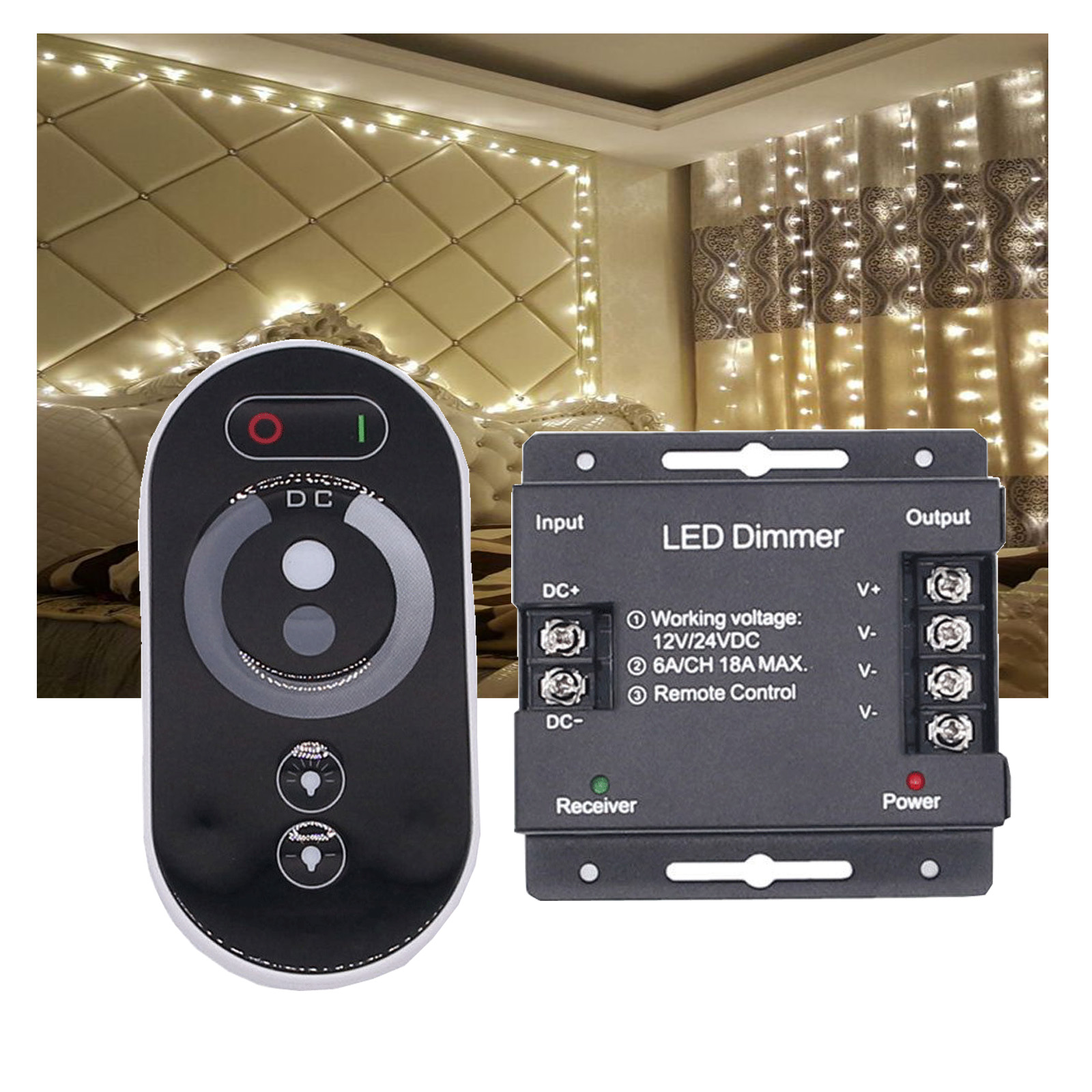 Details About Fr Touch Remote Controller Led Dimmer Single Color Steel Shell Dc12 24v 6a Rt696