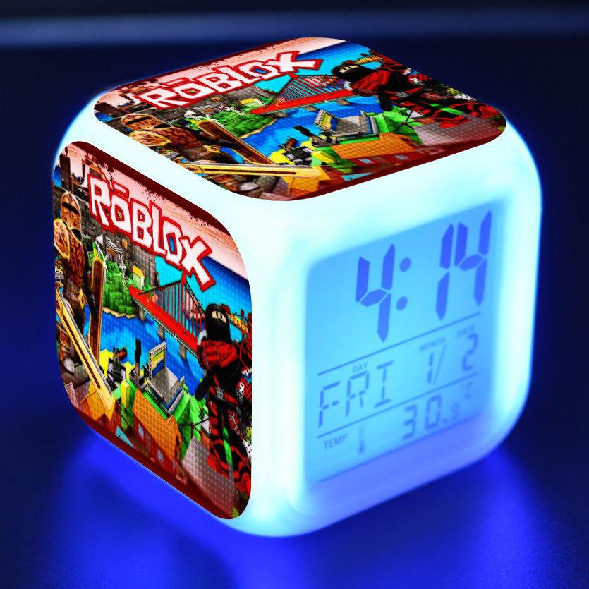 Roblox Games LED Night Light Digital Alarm Clock Best Gift
