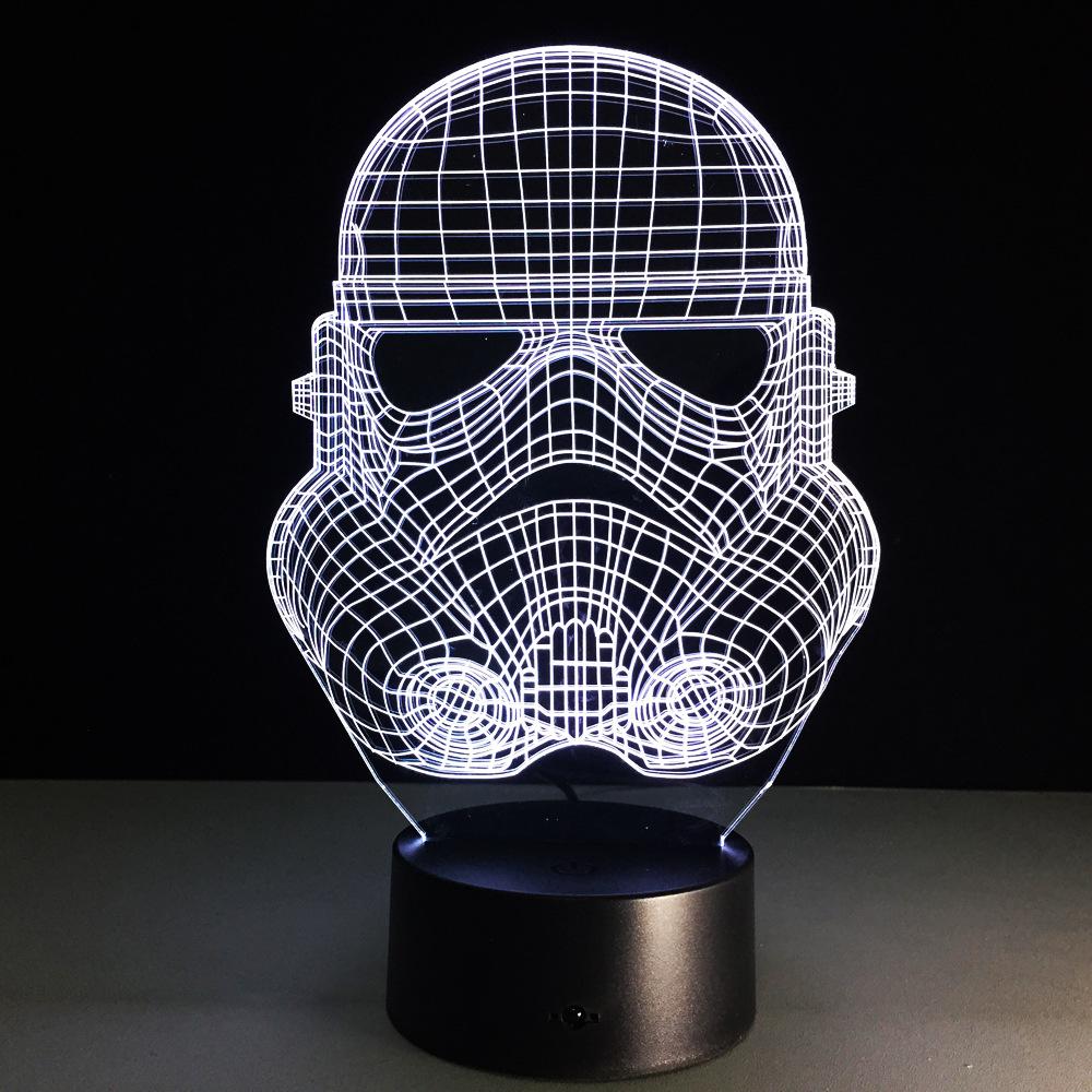 star wars stormtrooper led dekoration lampe weihnachten atmosph re lichtbunt neu ebay. Black Bedroom Furniture Sets. Home Design Ideas