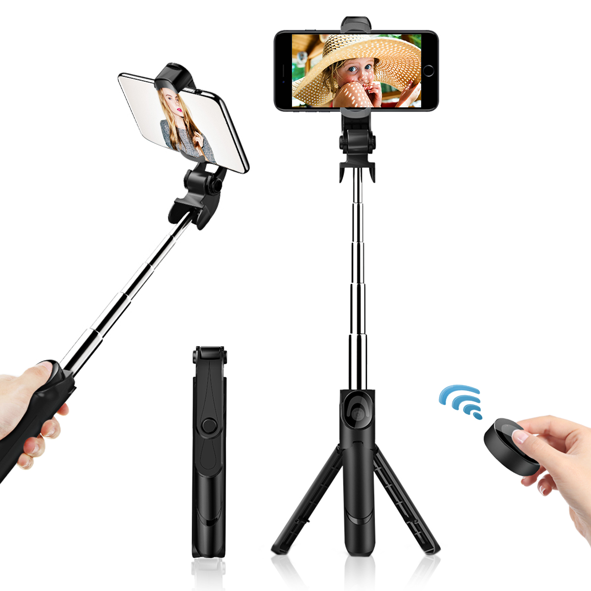 buy popular 28c97 0fbf0 Details about Monopod Selfie Stick Telescopic Bluetooth For Samsung S8,  S8+, IPhone 6s, X, XR