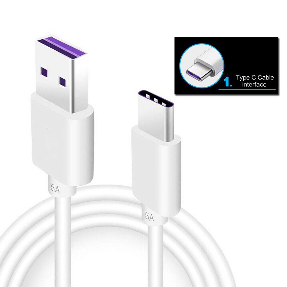Détails sur 5 A USB Type C Câble Chargeur De Charge pour Huawei MATE 20 20X 20 Lite P20 P30 Pro afficher le titre d'origine