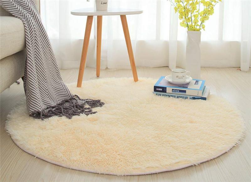 Indischer gewebter runder Teppich handgemachte Boden-Matte 60,90,120 /& 150 cm