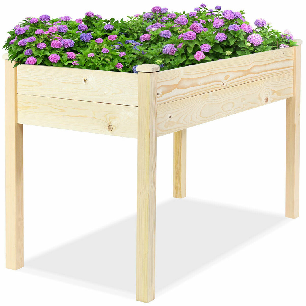 Raised Garden Bed Yard Patio Elevated Planter Box For