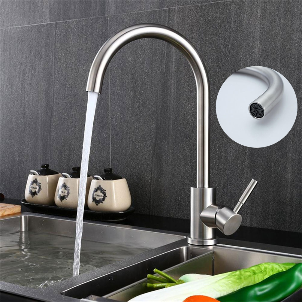 360 Degree Rotatable Brass Kitchen Faucets Bathroom Sink Mixer Tap ...