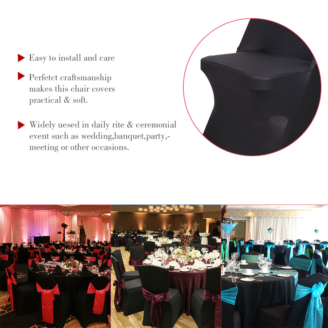Wedding Supplies White Spandex Folding Chair Covers Stretchable Fitted Wedding Dinner Decorations Home Garden Mbln Org