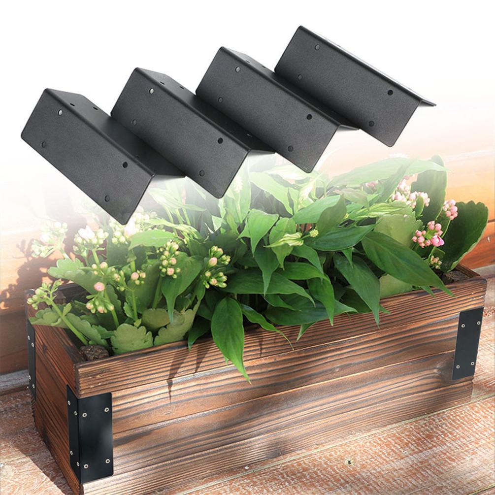 4x wooden raised vegetable garden bed border corner - Raised garden bed corner brackets ...