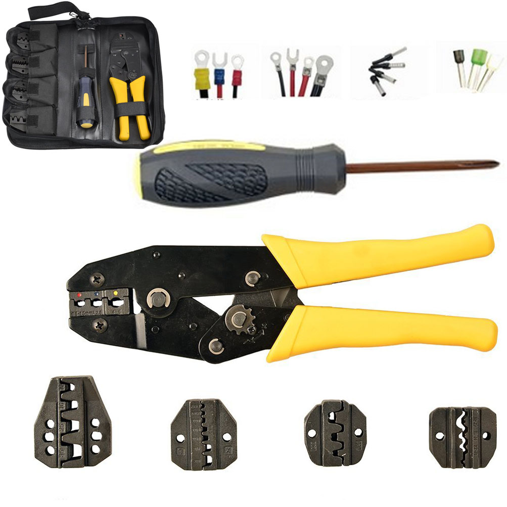 insulated cable connectors terminal ratchet crimping wire crimper rh ebay com