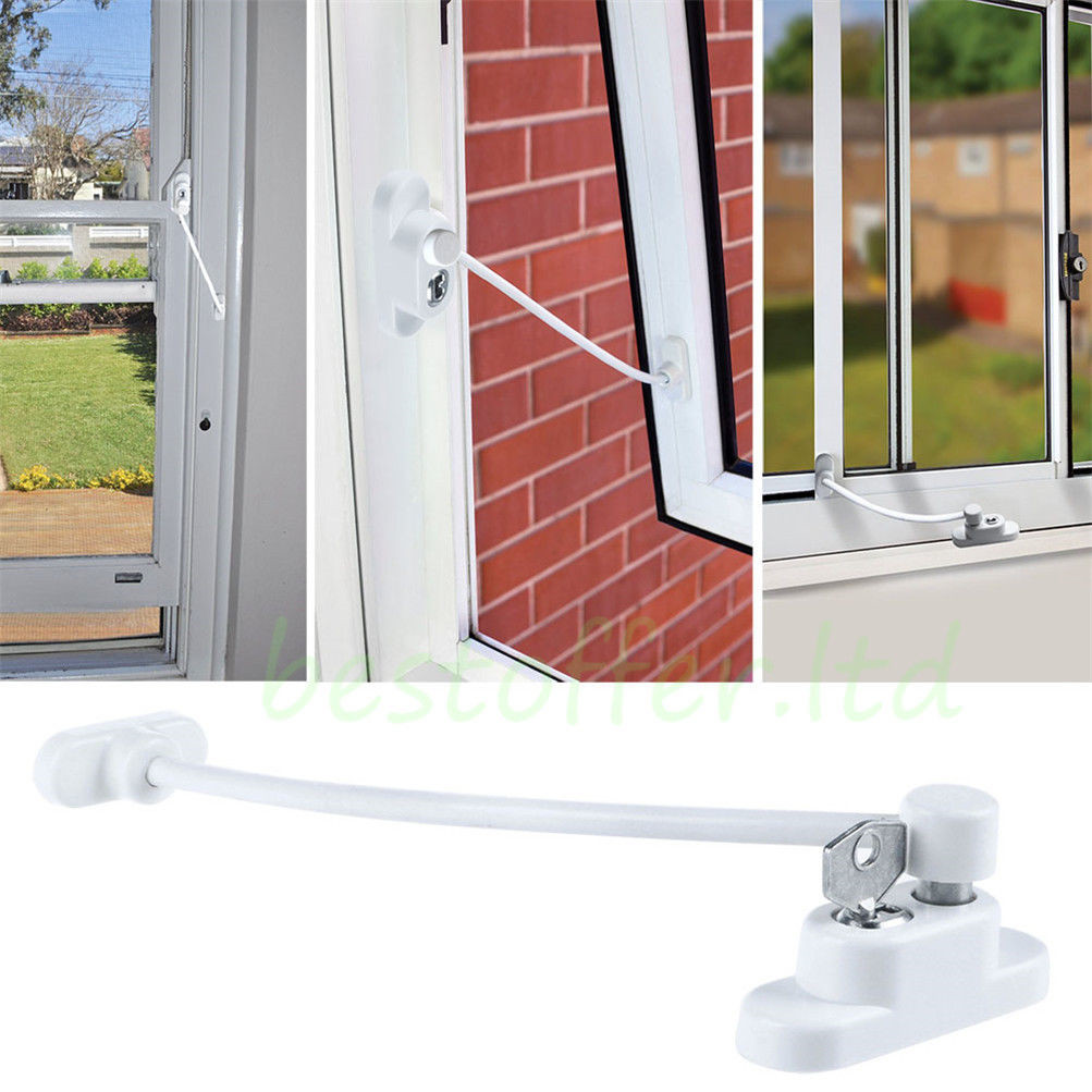 UPVC Window Door Opening Restrictor Child Baby Proof Safety Cable Lock Catch USA  sc 1 st  eBay & UPVC Window Door Opening Restrictor Child Baby Proof Safety Cable ...