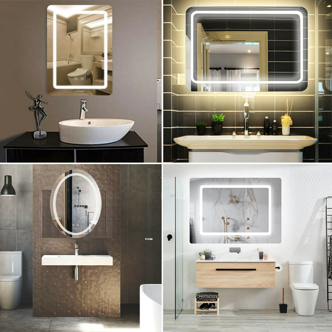 Sensational Details About Wall Mounted Led Lighted Bathroom Mirror Touch Switch Dimmable Anti Fog Mirror Download Free Architecture Designs Scobabritishbridgeorg