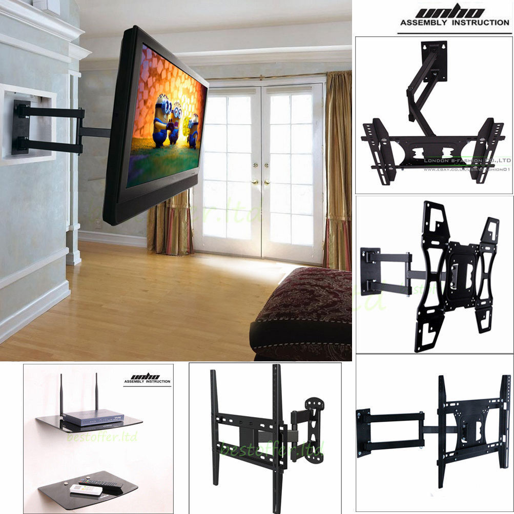 Full Motion TV Wall Mount for Sony Panasonic Vizio RCA 39 40 42 43 48 49 50  55