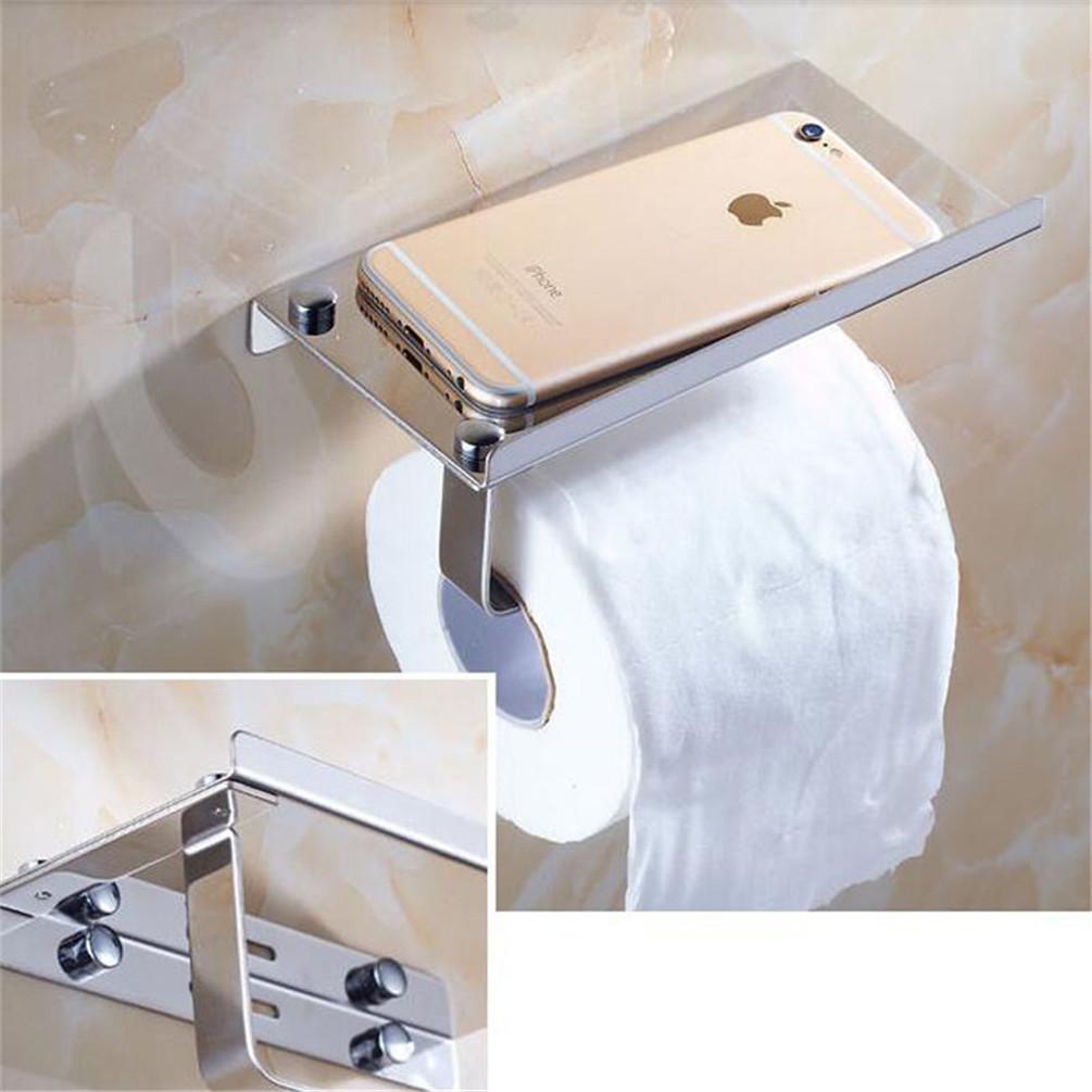 Modern Chrome Roll Toilet Paper Holder Bathroom Tissue Holder W ...