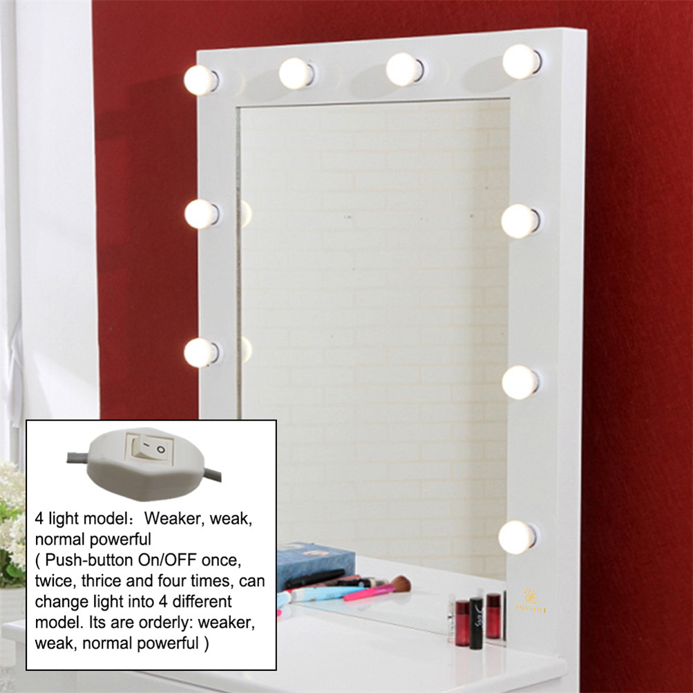 White Vanity Makeup Dressing Table Set W/ LED Lighted