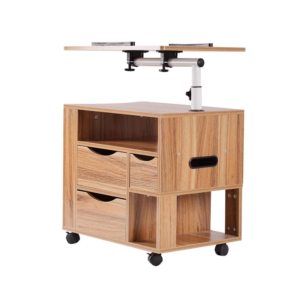 Laptop Desk Bedside Table Mobile Side Bedroom Cabinet Multifunction Night Stand