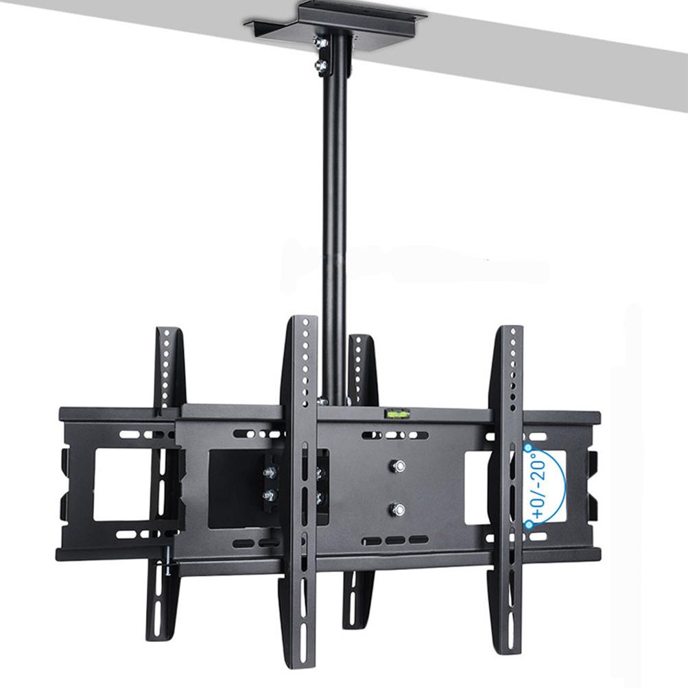 ceiling dual tv mount bracket tilt 360 swivel led lcd flat 32 37