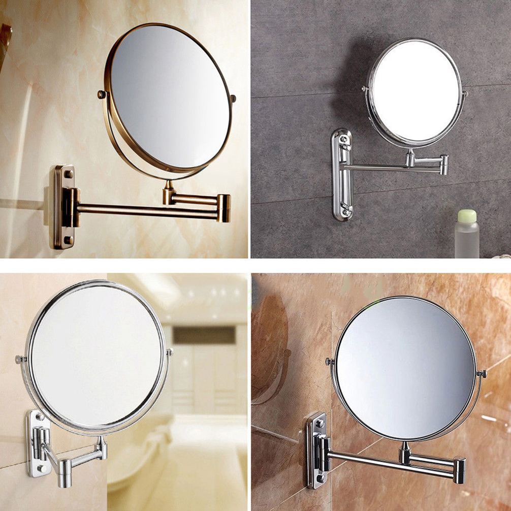 2 Double Side Swivel Beauty Makeup Mirror 10x
